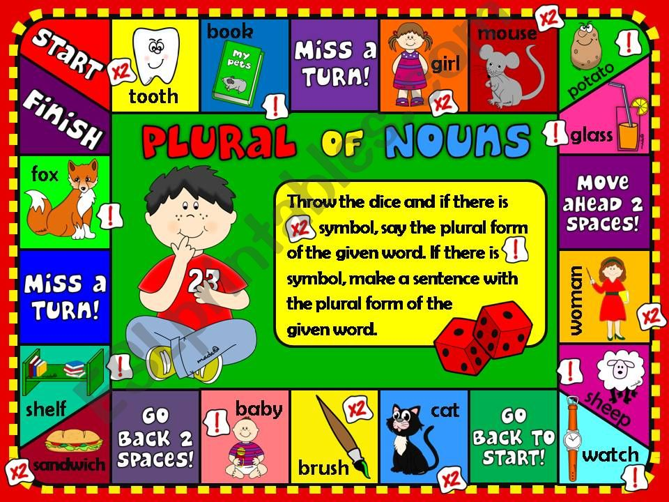 Plural of nouns - boardgame powerpoint