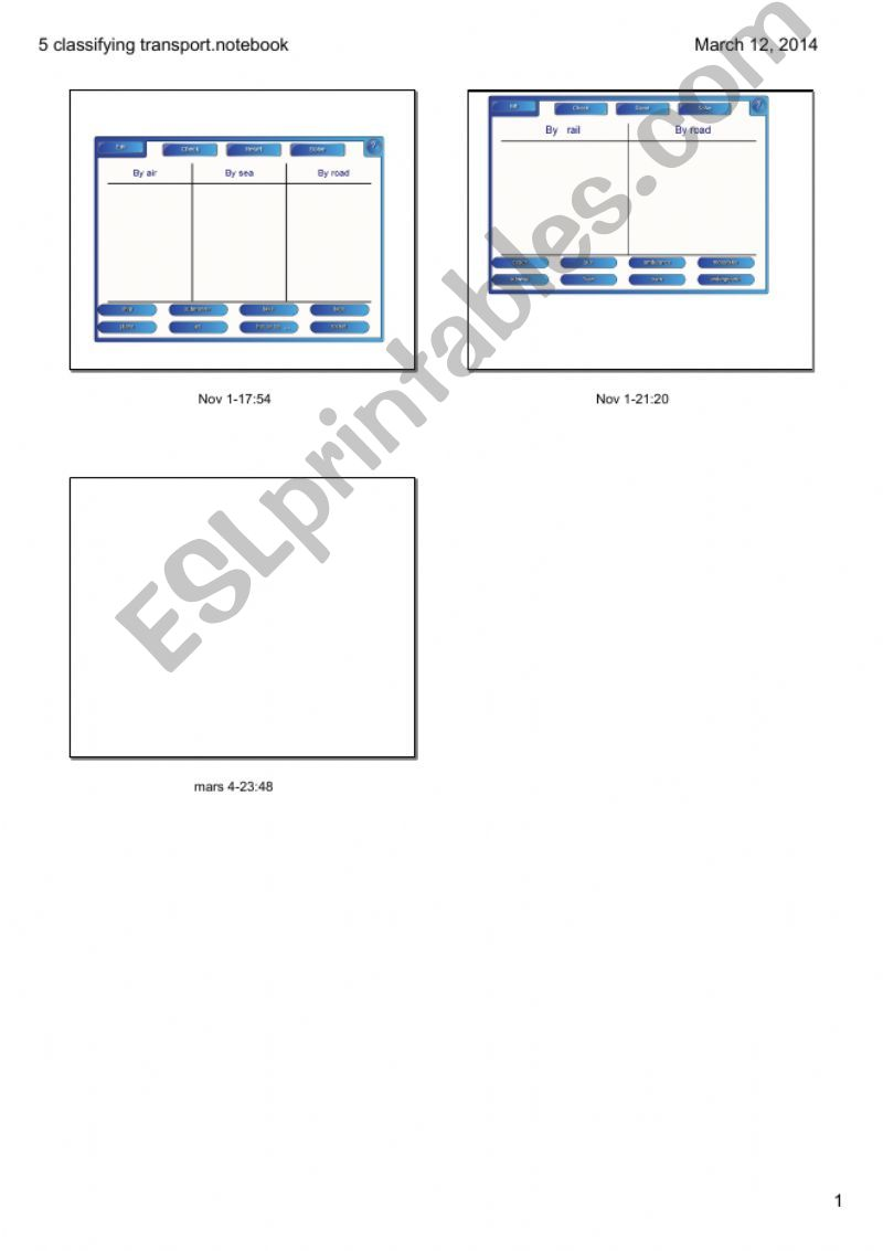 Means of transports powerpoint