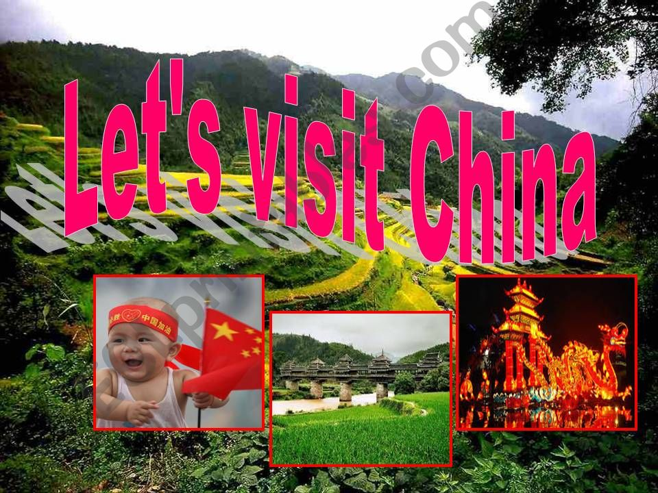 let´s visit China powerpoint