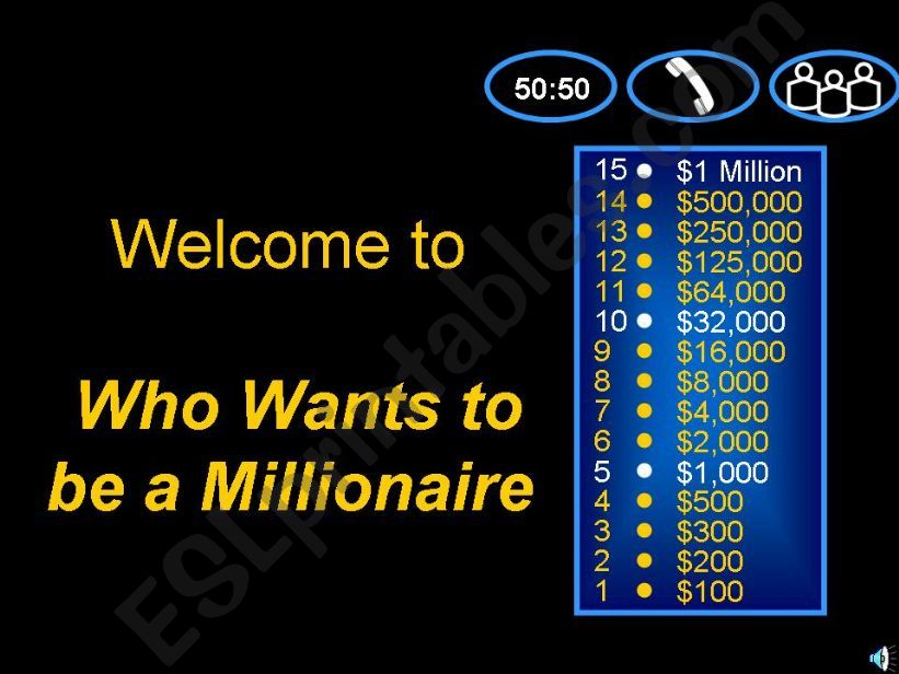 Who wants to be a millionaire_grammar & vocabulary quiz for intermediate students