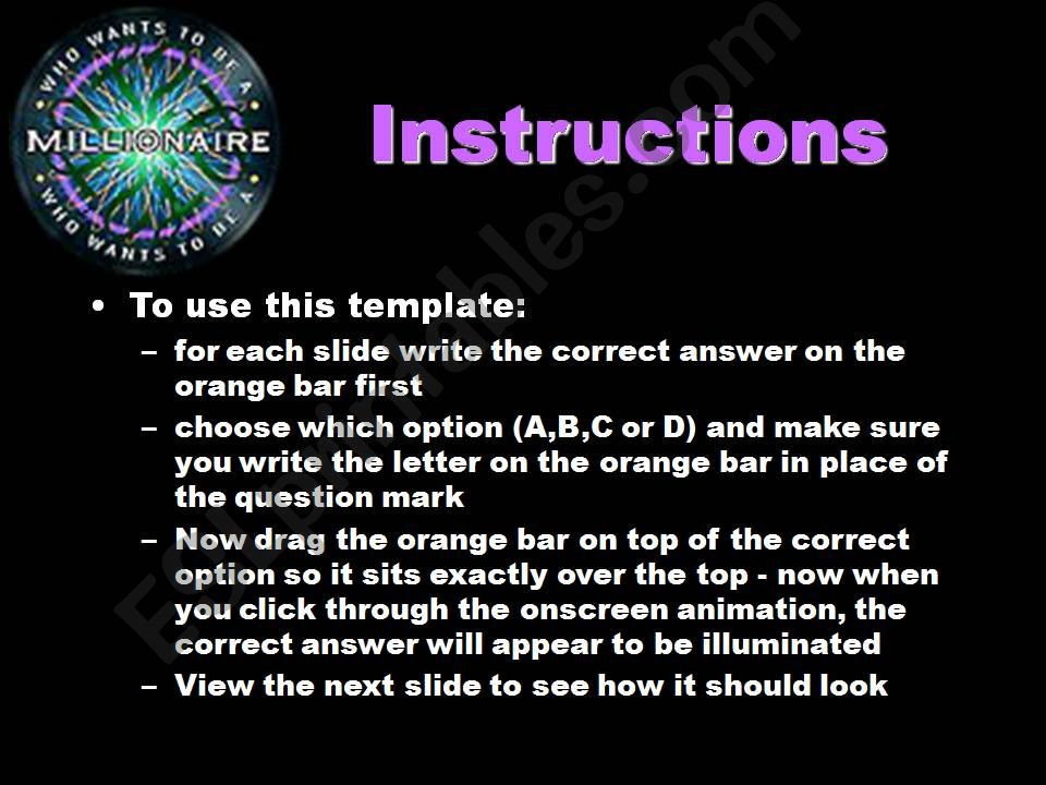 Who Wants to Be A Millionaire Verb Tense Review