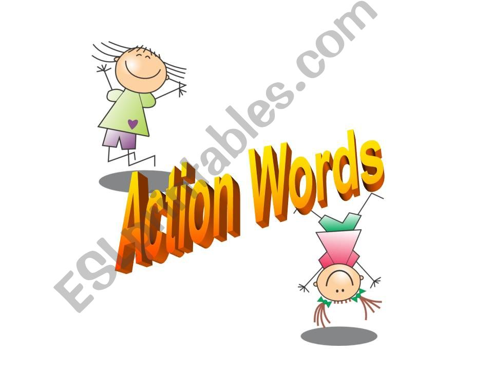 Action Words (Part 1) powerpoint