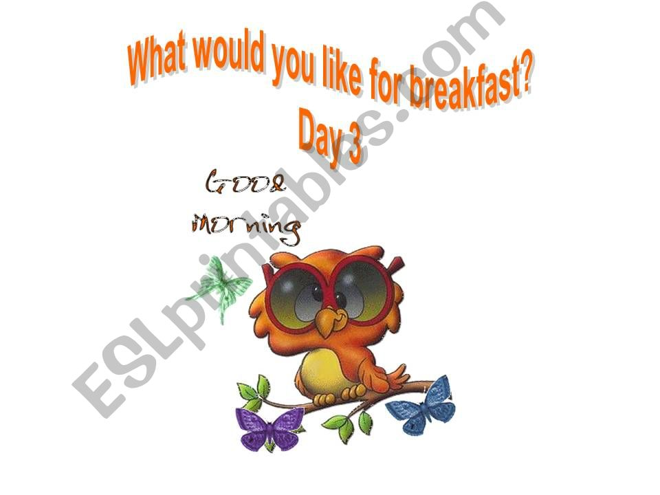 What would you like for breakfast? (Part 2)