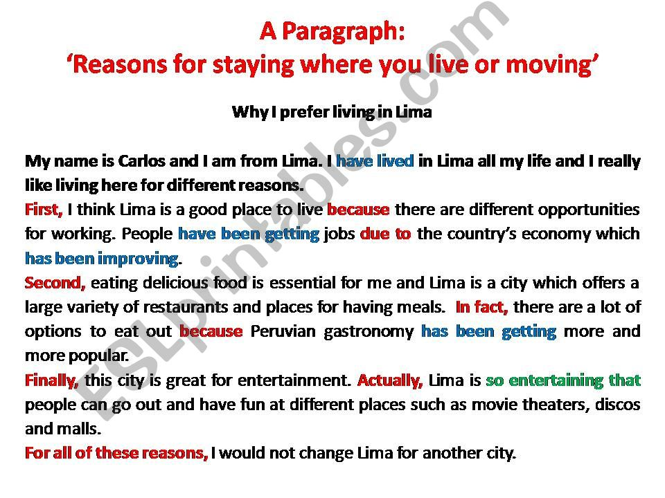 LIVING IN LIMA powerpoint