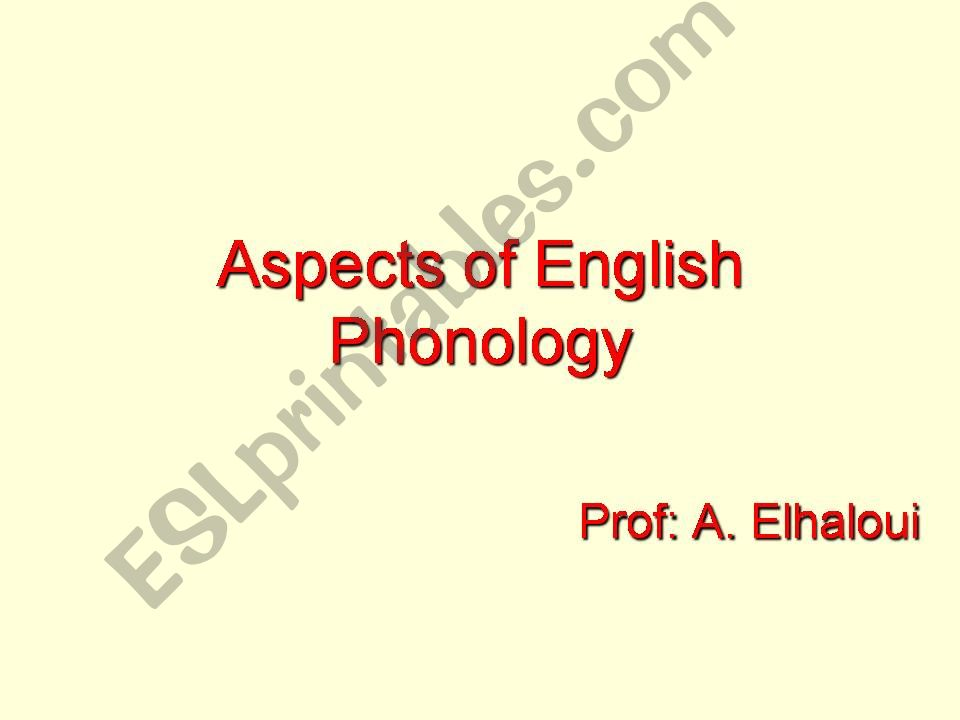 English phonology powerpoint