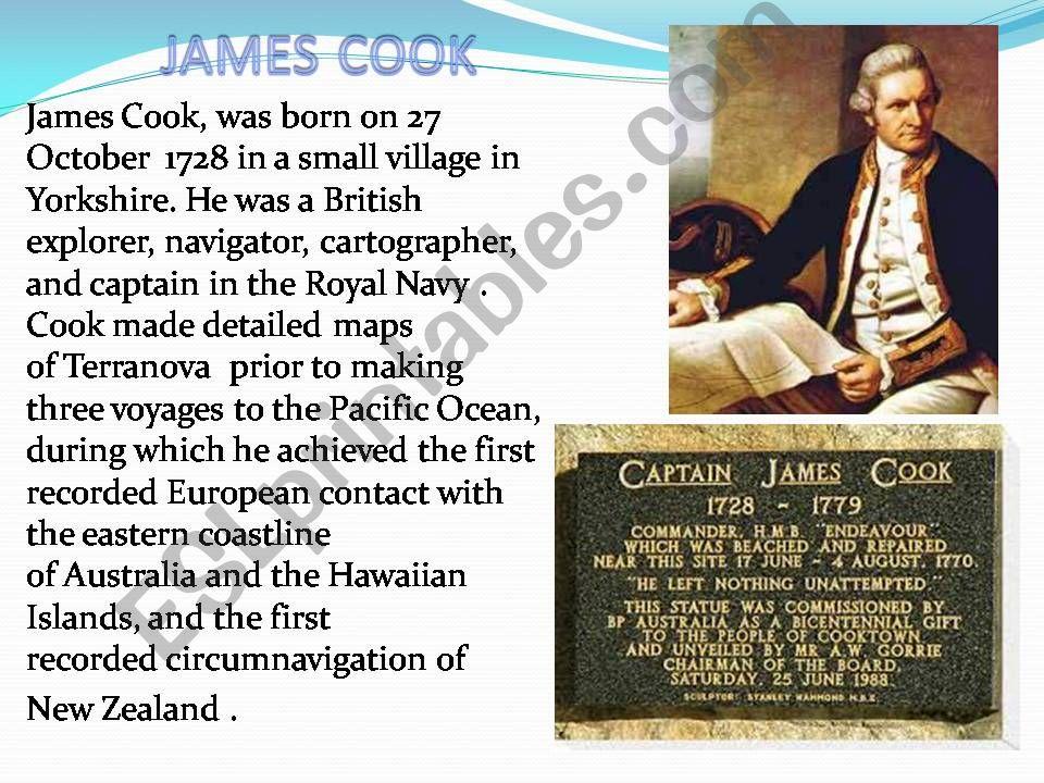 James Cook powerpoint