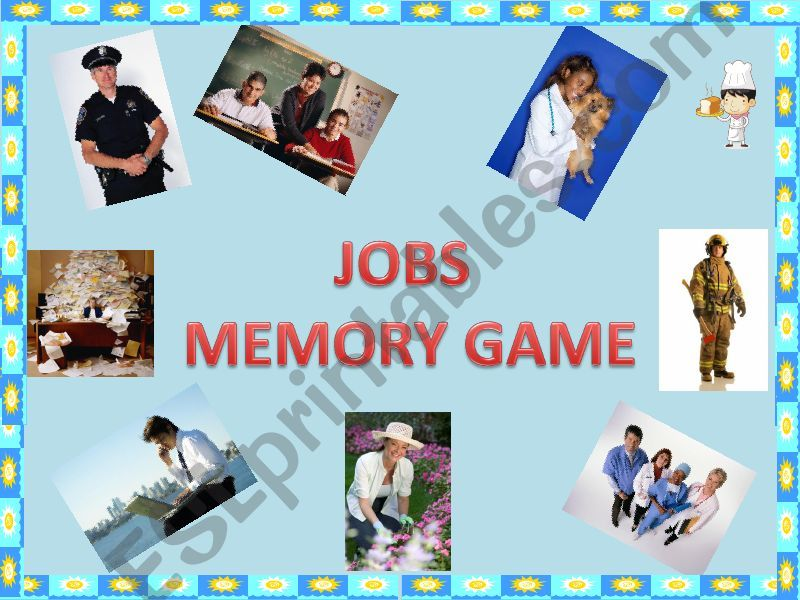 Jobs - memory game powerpoint