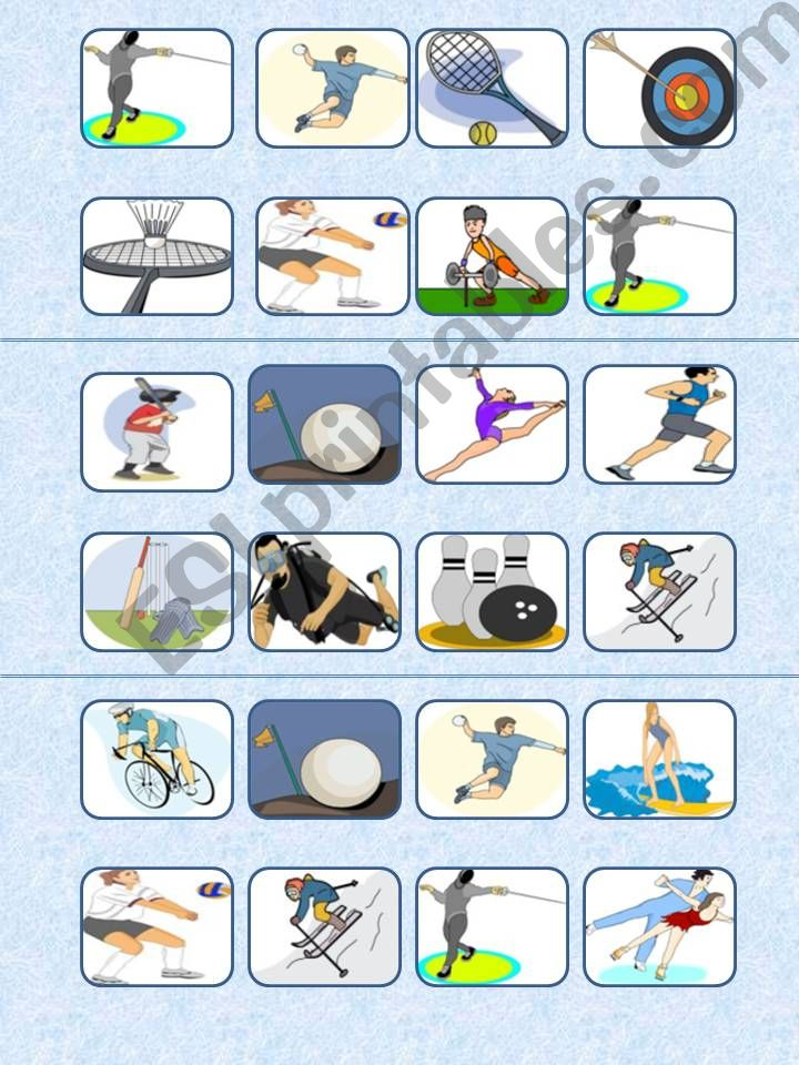 Sports bingo 15 cards and list included