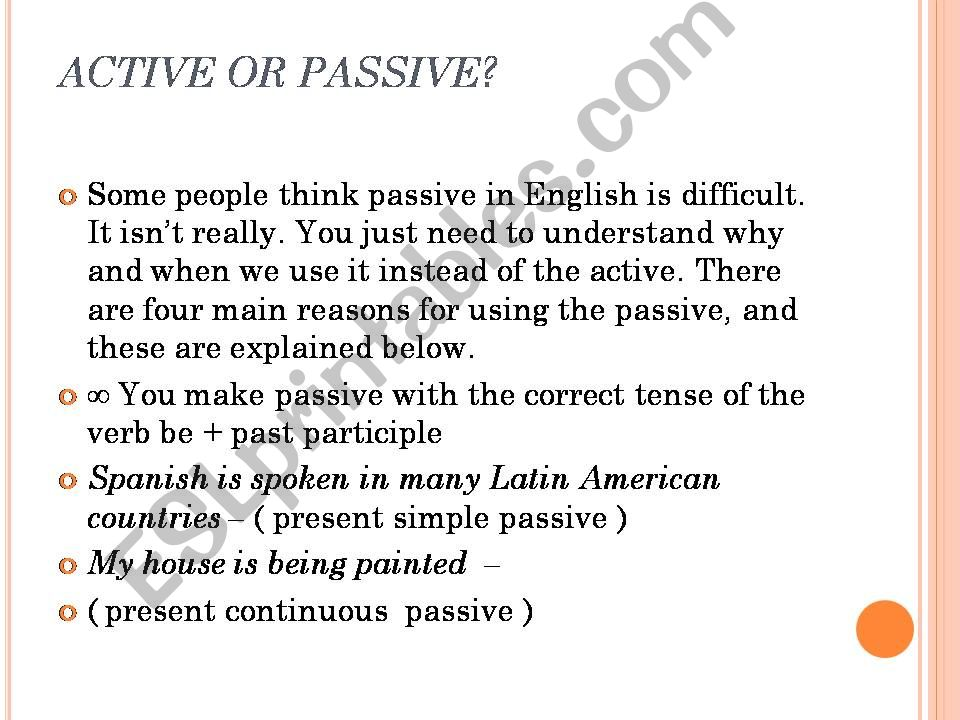 active or passive  powerpoint