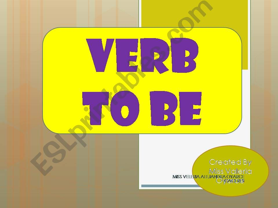 verb to be  powerpoint