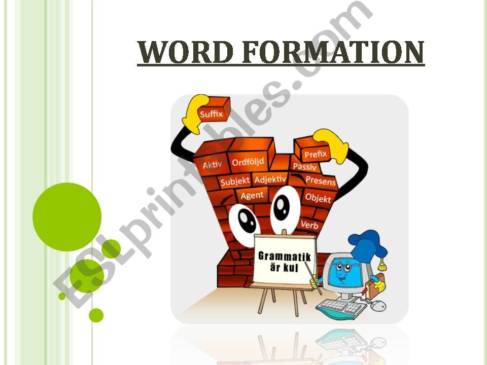 WORD FORMATION powerpoint