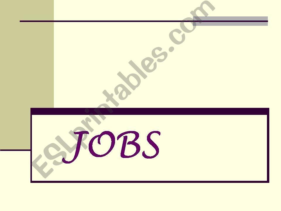 JOBS powerpoint