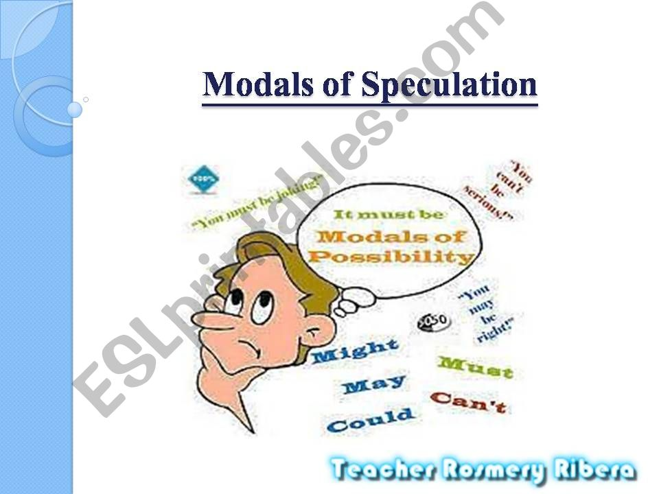 Modals of Speculation  powerpoint