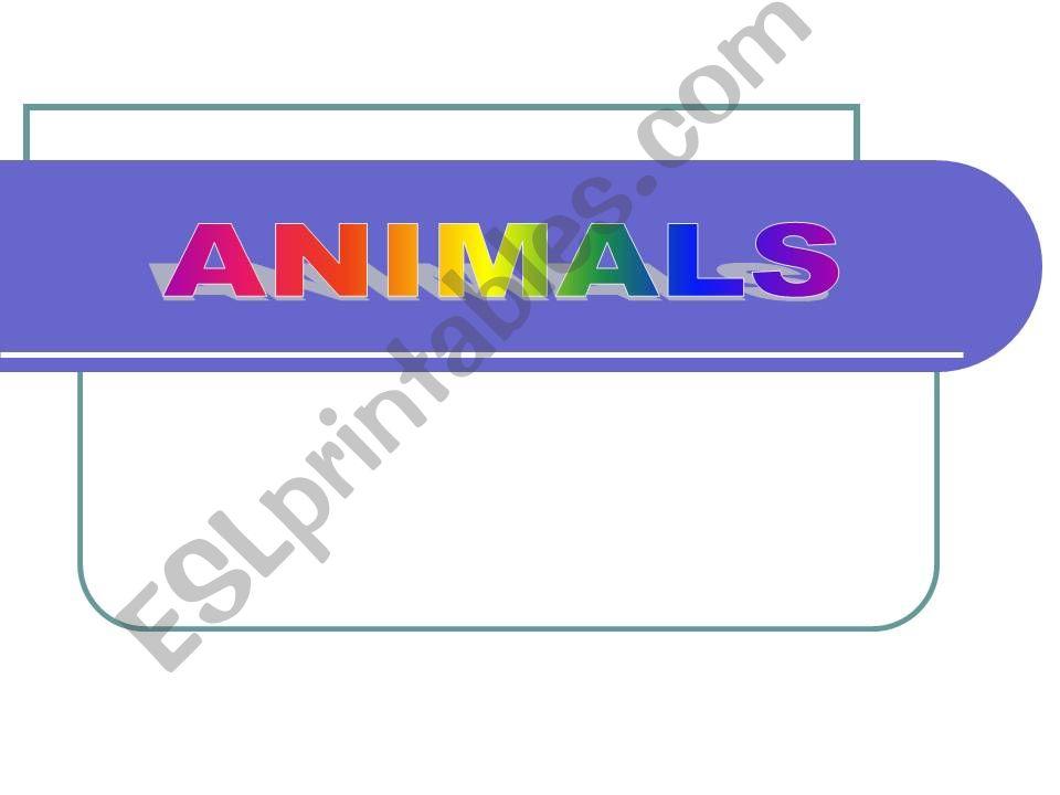 ANIMALS  2 powerpoint