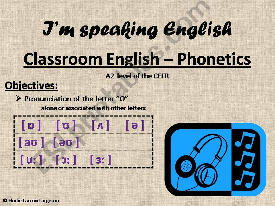 classroom english - phonetics powerpoint