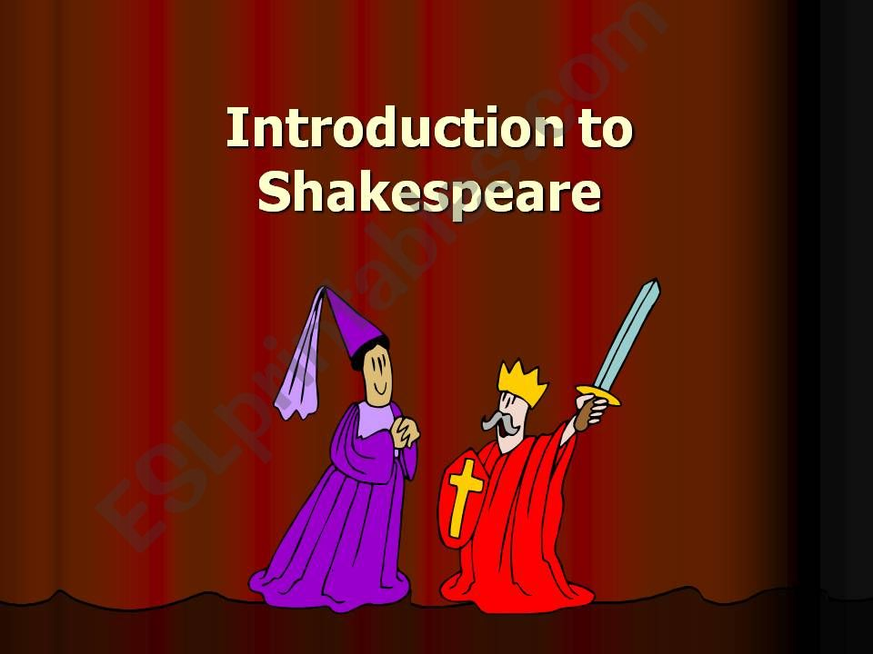 Introduction to Shakespeare powerpoint