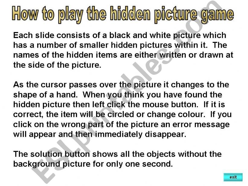 Hidden pictures powerpoint