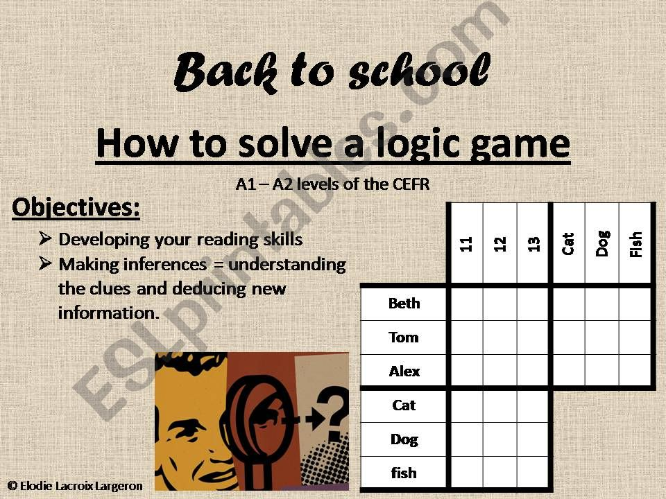 how to solve a logic game powerpoint
