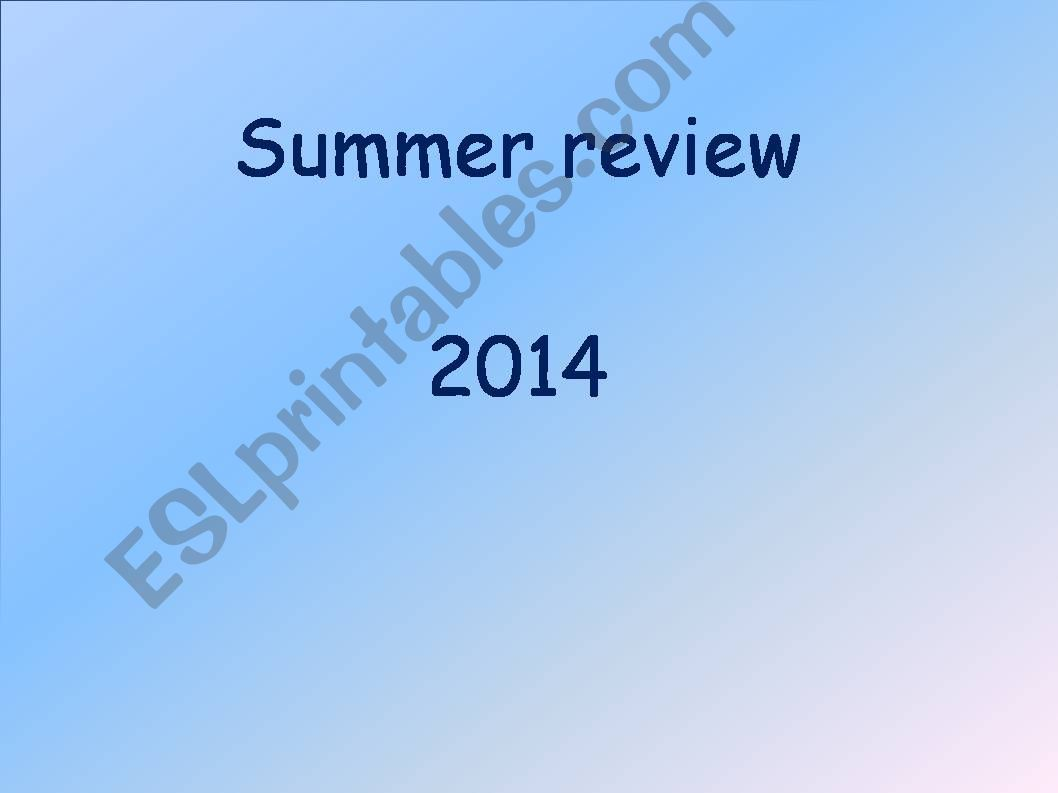 SUMMER REVIEW 25014 powerpoint
