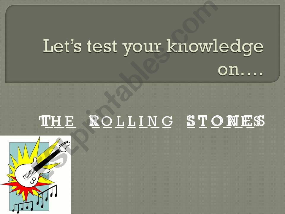 The Rolling Stones powerpoint