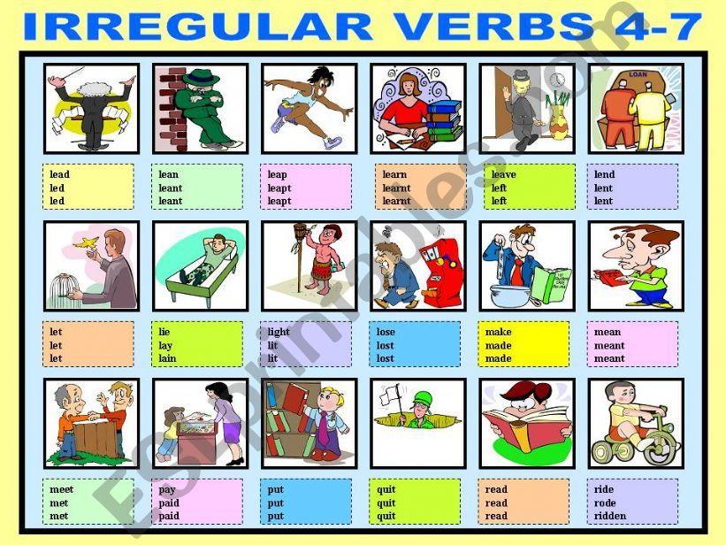 IRREGULAR VERBS 4-7 powerpoint