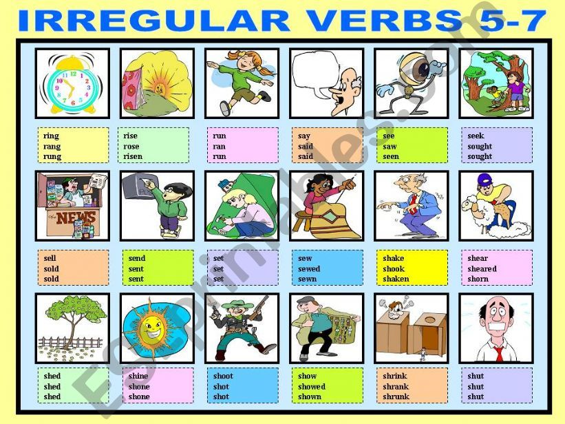 IRREGULAR VERBS 5-7 powerpoint