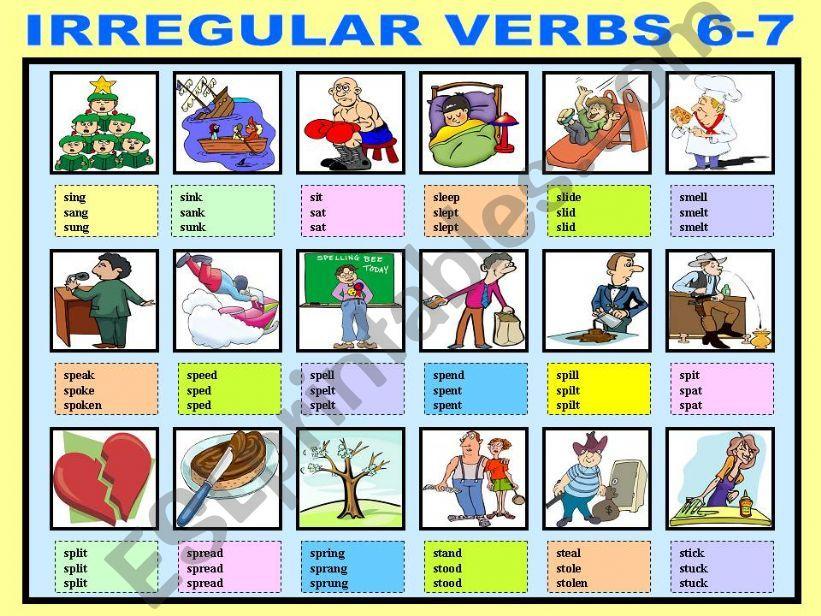 IRREGULAR VERBS 6-7 powerpoint