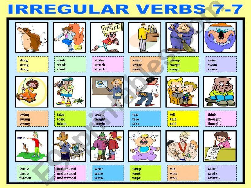 IRREGULAR VERBS 7-7 powerpoint
