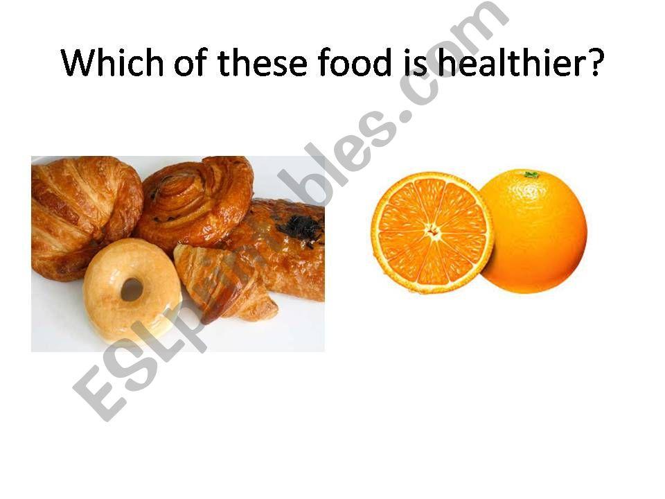 Healthy food powerpoint