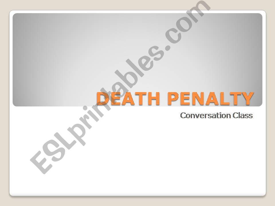 Death Penalty powerpoint