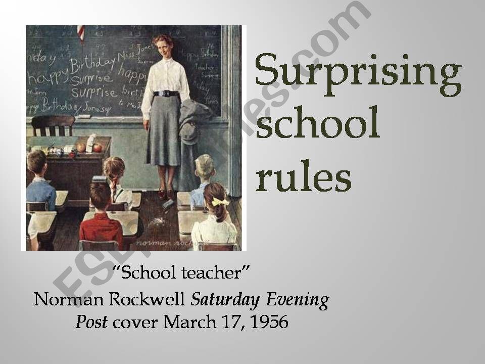 Surprising school rules powerpoint