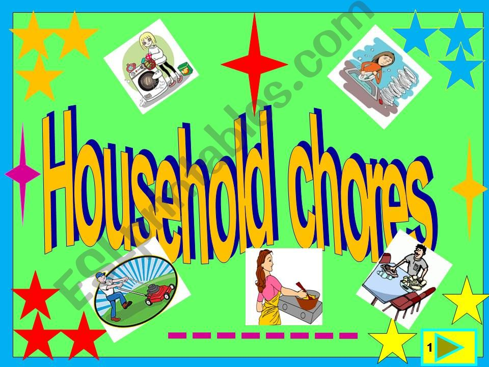 household chores/multiple choice game