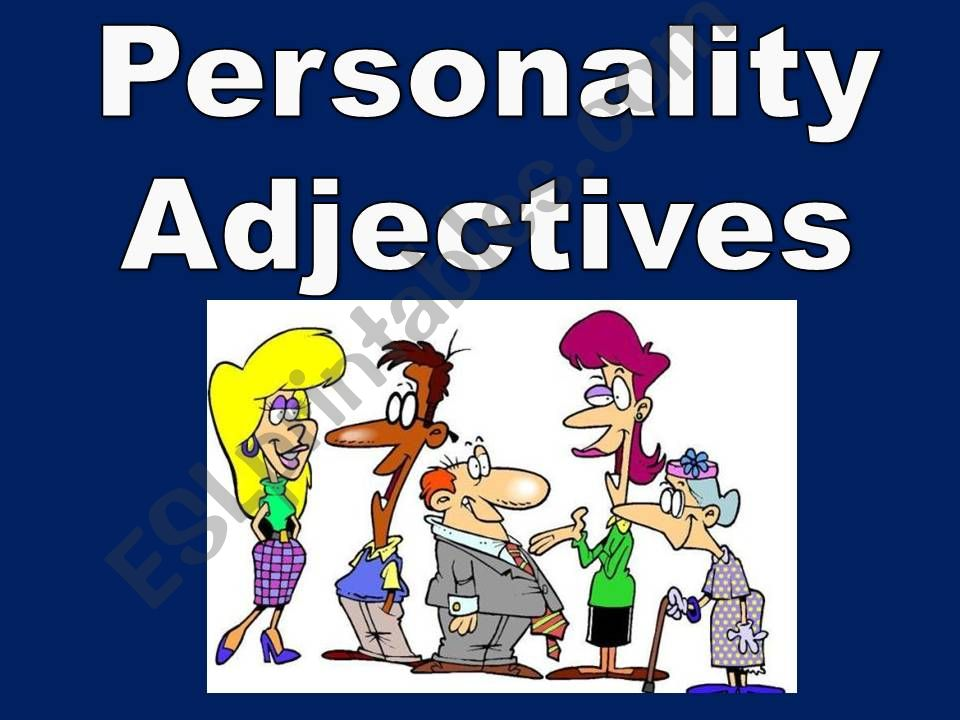 Personality Adjectives powerpoint