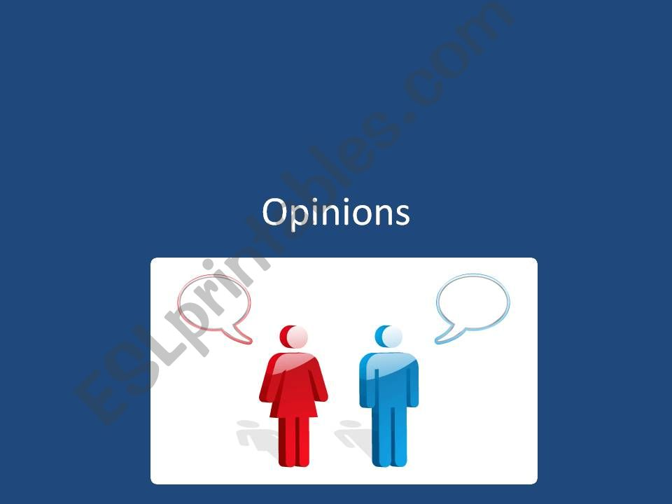 GIVING OPINIONS powerpoint