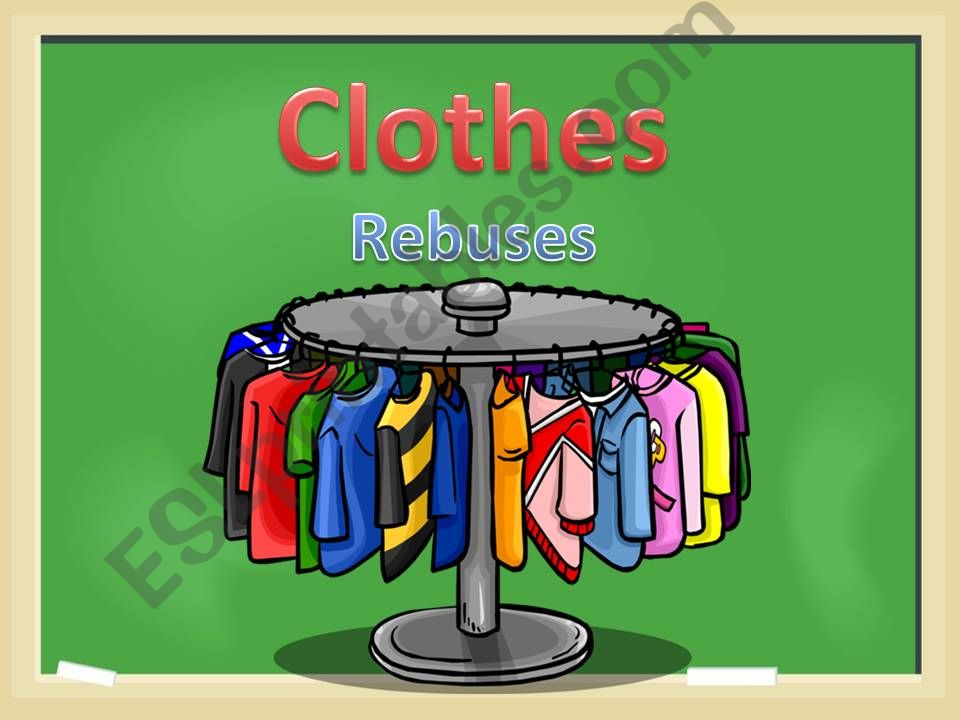 Clothes. Rebuses powerpoint