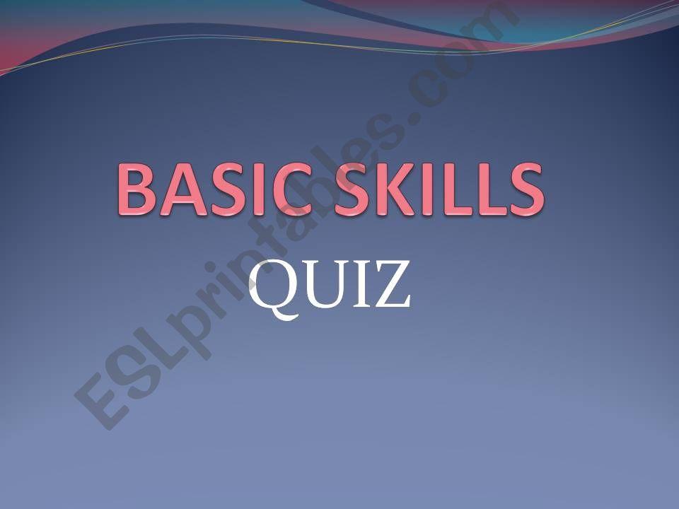 Basic grammar structures - interactive QUIZ