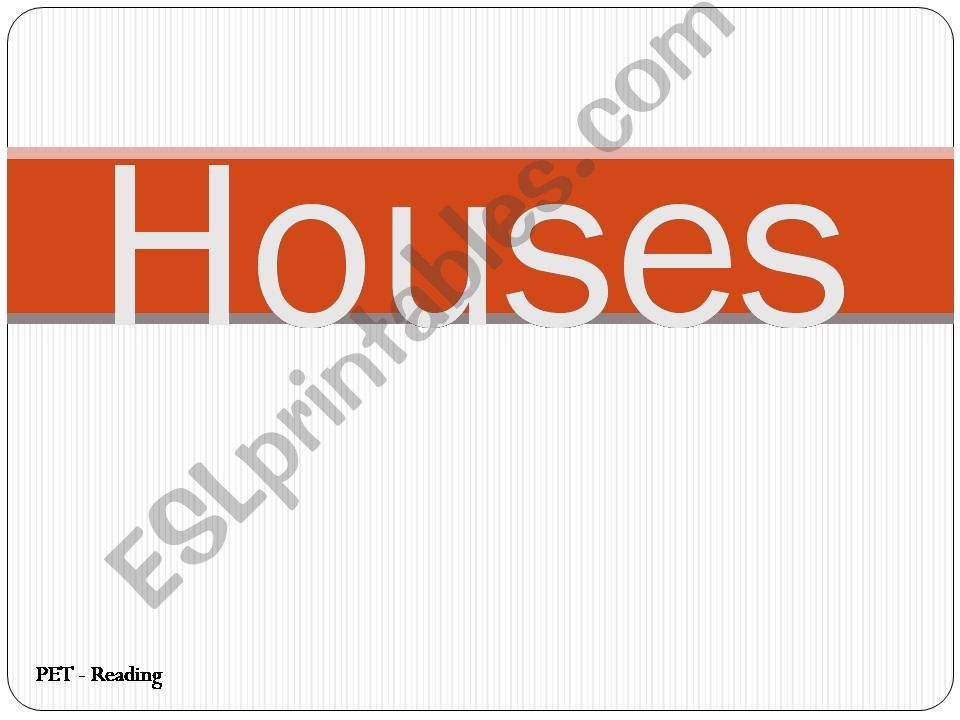 Houses powerpoint