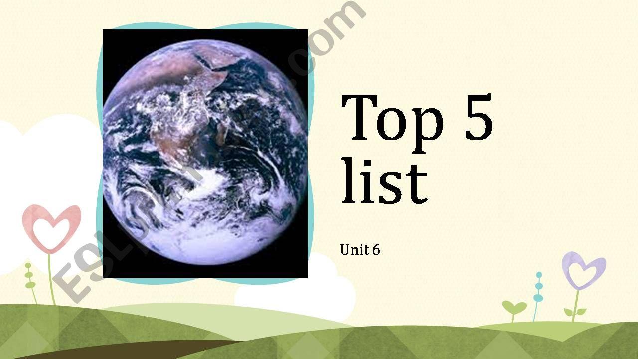 Top 5 powerpoint