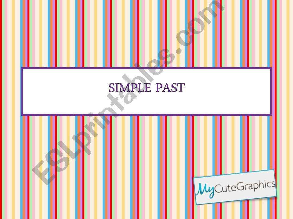 Simple past (preterite) - regular verbs
