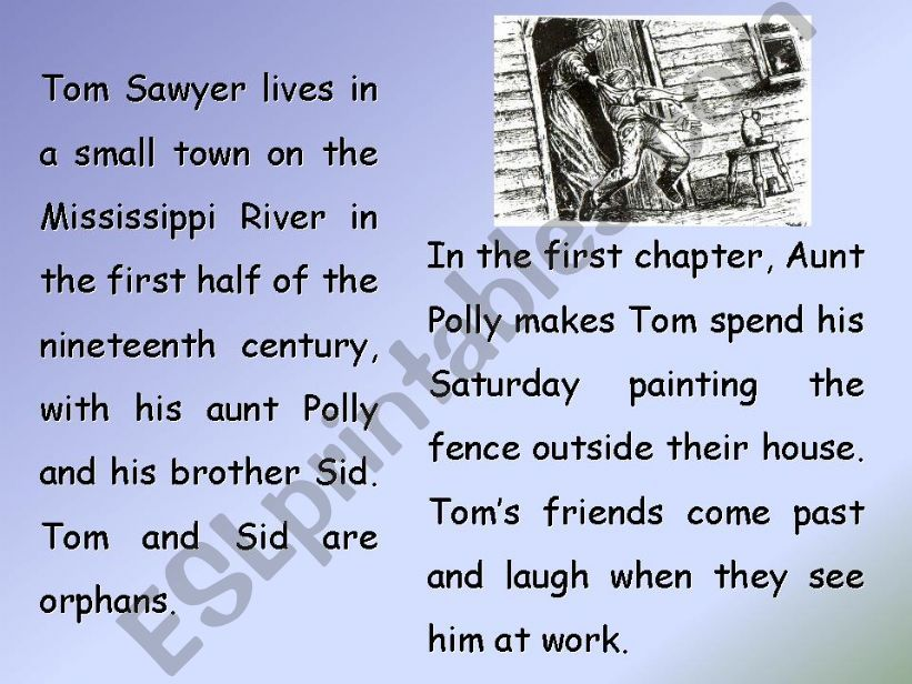 The Adventures of Tom Sawyer, by Mark Twain (PART 1)