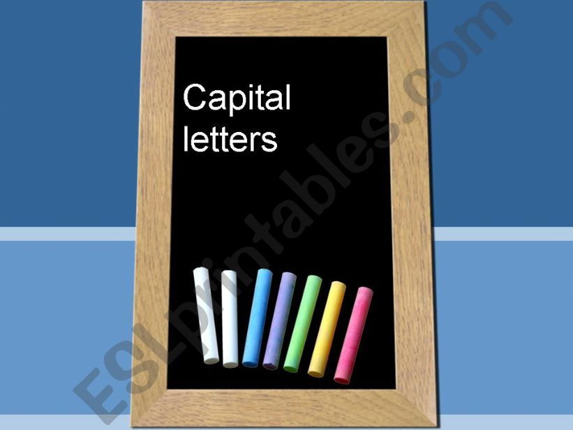 Use of Capital Letters powerpoint