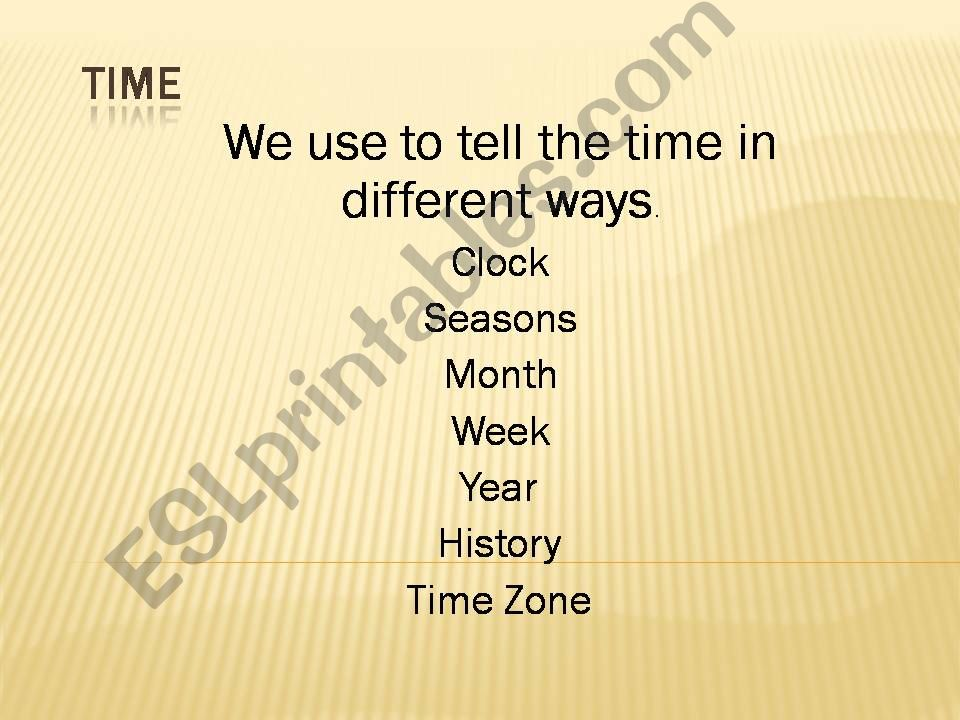 Time Idioms powerpoint