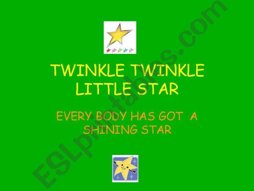 TWINKLE TWINKLE LITTLE STAR powerpoint