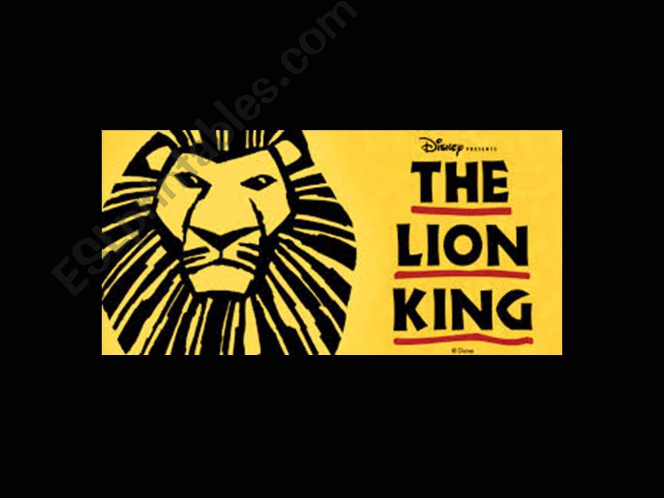 ESL - English PowerPoints: Lion King Powerpoint with Vocabulary and