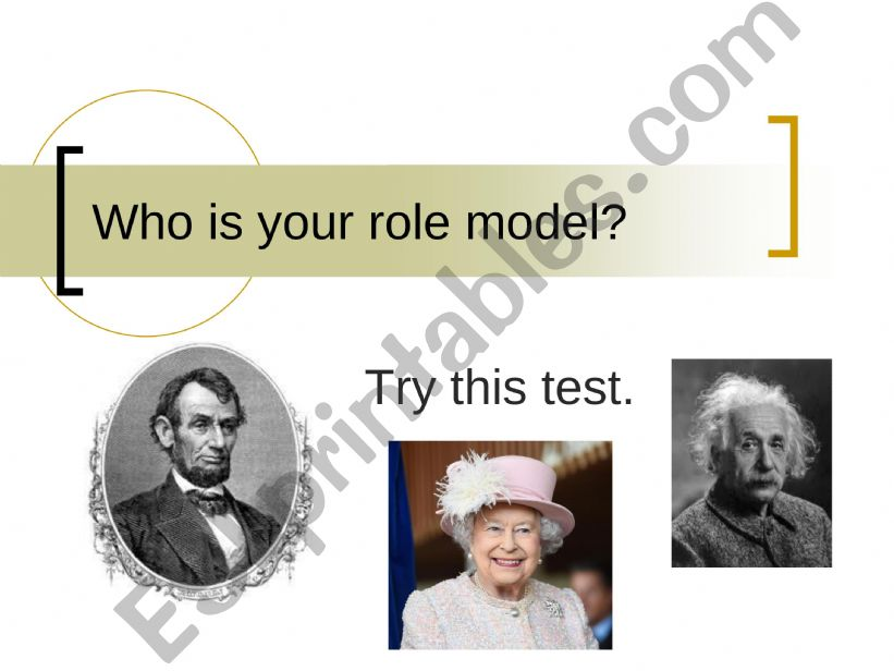 Who Is Your Role Model? powerpoint