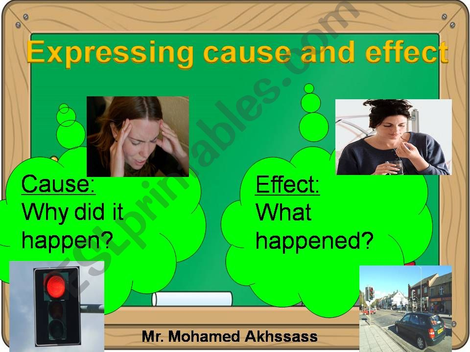 Expressing cause and effect powerpoint