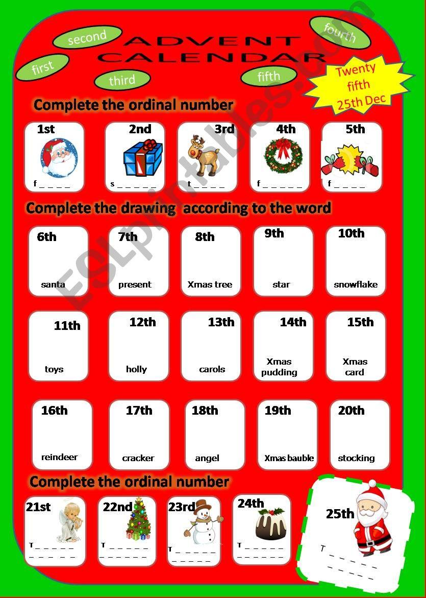 Advent Calendar powerpoint