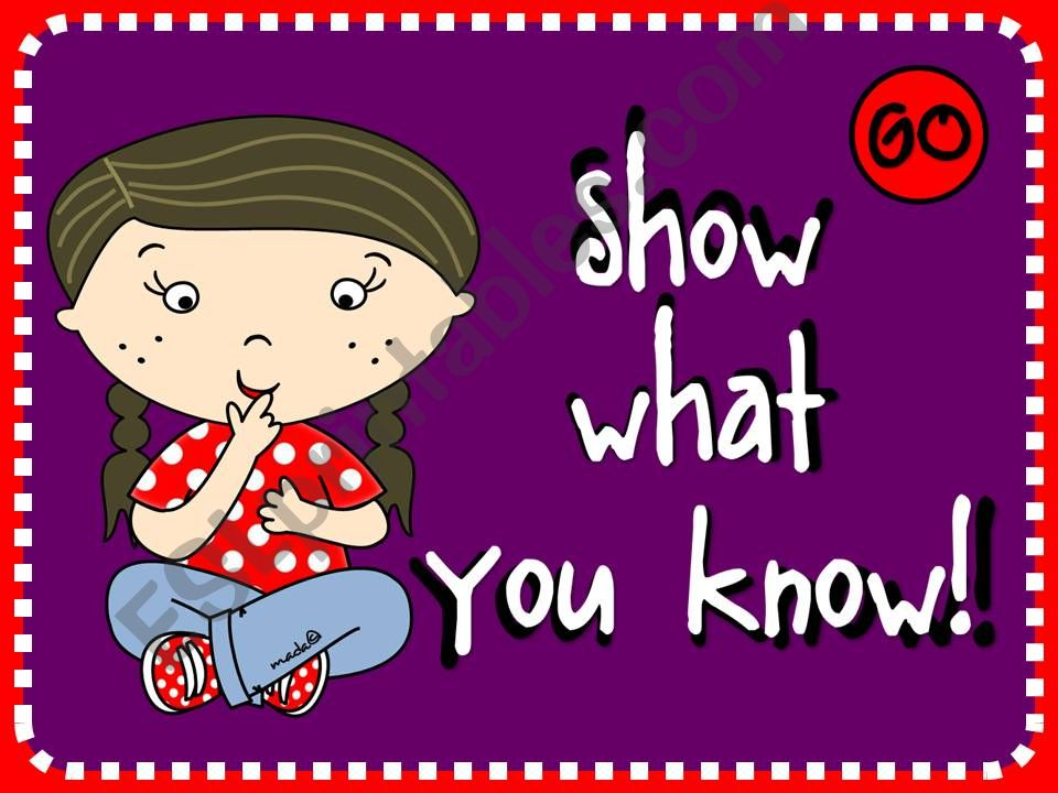 Show what you know! powerpoint