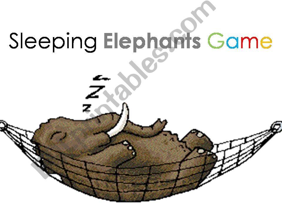 Sleeping Elephants template powerpoint