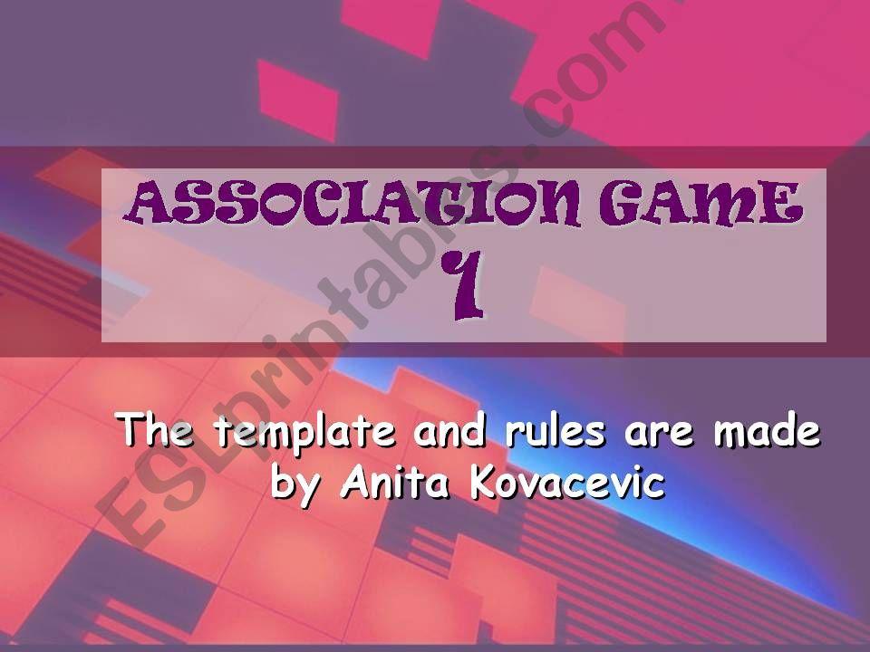 Animals Association Game 1 powerpoint